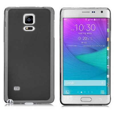 Microsonic Transparent Soft Samsung Galaxy Note Edge Kılıf Siyah Cep Telefonu Kılıfı