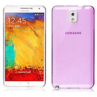 Microsonic Transparent Soft Samsung Galaxy Note 3 Kılıf Pembe Cep Telefonu Kılıfı