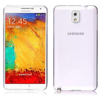 Microsonic Transparent Soft Samsung Galaxy Note 3 Kılıf Beyaz Cep Telefonu Kılıfı