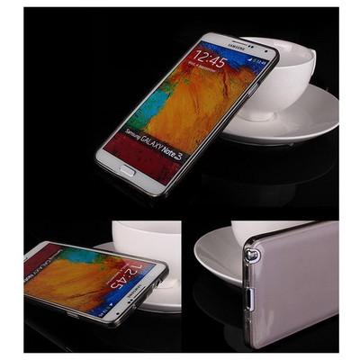 Microsonic Transparent Soft Samsung Galaxy Note 3 Kılıf Siyah Cep Telefonu Kılıfı