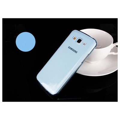 Microsonic Transparent Soft Samsung Galaxy Grand 2 Kılıf Mavi Cep Telefonu Kılıfı