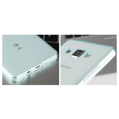Microsonic Transparent Soft Samsung Galaxy A5 Kılıf Mavi Cep Telefonu Kılıfı
