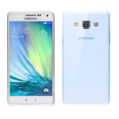 Microsonic Transparent Soft Samsung Galaxy A3 Kılıf Mavi Cep Telefonu Kılıfı