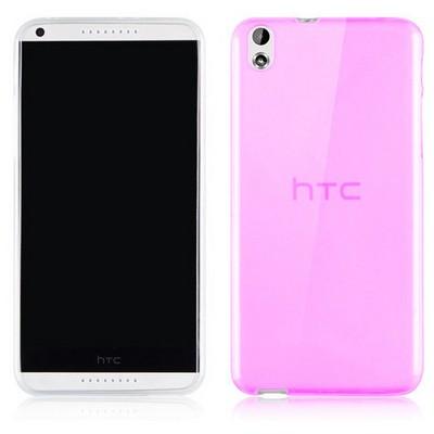Microsonic Transparent Soft Htc Desire 816 Kılıf Pembe Cep Telefonu Kılıfı