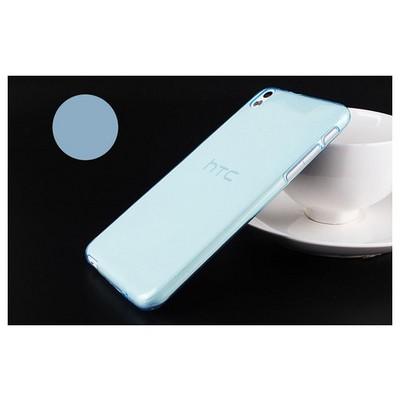 Microsonic Transparent Soft Htc Desire 816 Kılıf Mavi Cep Telefonu Kılıfı