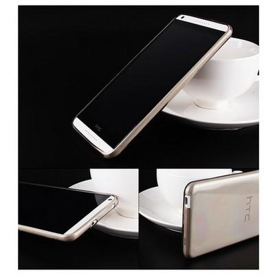 Microsonic Transparent Soft Htc Desire 816 Kılıf Siyah Cep Telefonu Kılıfı