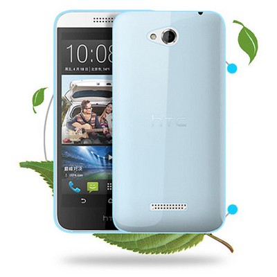 Microsonic Transparent Soft Htc Desire 616 Kılıf Mavi Cep Telefonu Kılıfı
