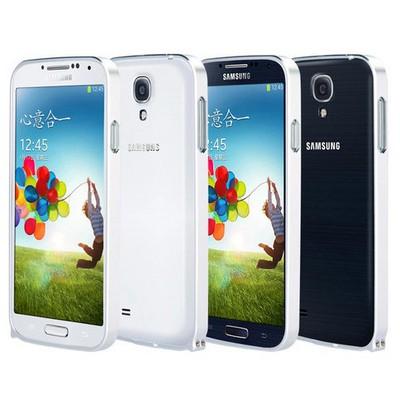 Microsonic Samsung Galaxy S4 Ultra Thin Metal Bumper Kılıf Gümüş Cep Telefonu Kılıfı