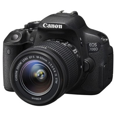 "Canon EOS-700D 18MP 3.2"" LCD FullHD Video Kayıt APS-C Digic5 18-55 DC Lens Kit Dijital Slr Fotoğraf Makinesi"