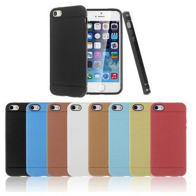 Microsonic Dot Style Silikon Iphone 5s Kılıf Siyah Cep Telefonu Kılıfı