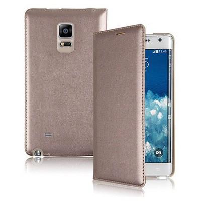 Microsonic Delux Kapaklı Samsung Galaxy Note Edge Kılıf Altın Sarısı Cep Telefonu Kılıfı