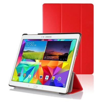 Microsonic Samsung Galaxy Tabs T800 Smart Case Ve Arka Kılıf Kırmızı Tablet Kılıfı