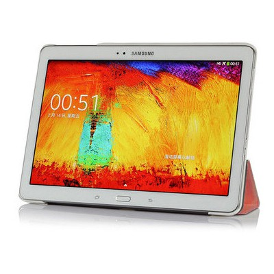 Microsonic Samsung Galaxy Tab4 T530 Smart Case Ve Arka Kılıf Kırmızı Tablet Kılıfı