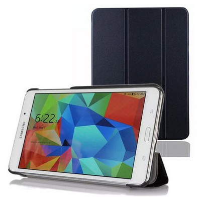 Microsonic Samsung Galaxy Tab4 T230 Smart Case Ve Arka Kılıf Siyah Tablet Kılıfı