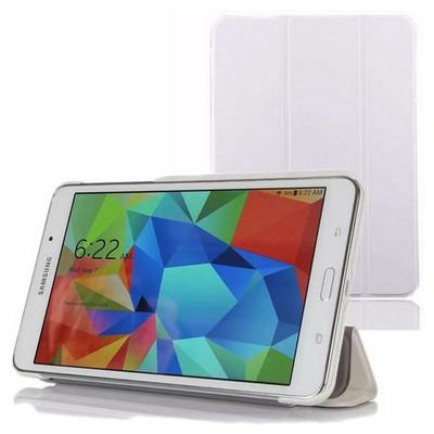 Microsonic Samsung Galaxy Tab4 T230 Smart Case Ve Arka Kılıf Beyaz Tablet Kılıfı