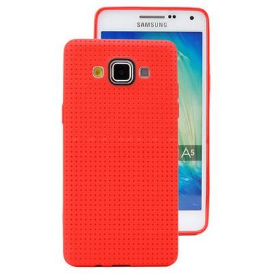 Microsonic Dot Style Silikon Samsung Galaxy A5 Kılıf Kırmızı Cep Telefonu Kılıfı