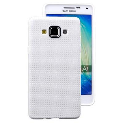 Microsonic Dot Style Silikon Samsung Galaxy A5 Kılıf Beyaz Cep Telefonu Kılıfı