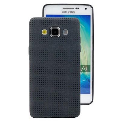 Microsonic Dot Style Silikon Samsung Galaxy A5 Kılıf Siyah Cep Telefonu Kılıfı