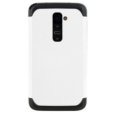 Microsonic Slim Fit Dual Layer Armor Lg G2 Kılıf Beyaz Cep Telefonu Kılıfı