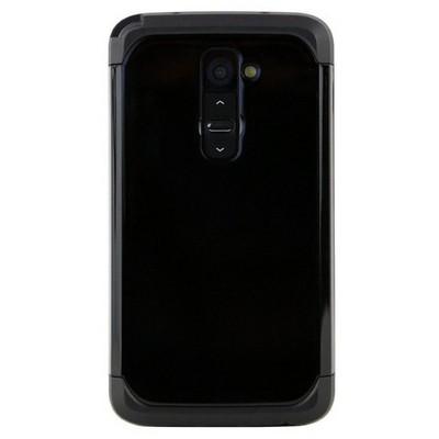 Microsonic Slim Fit Dual Layer Armor Lg G2 Kılıf Siyah Cep Telefonu Kılıfı