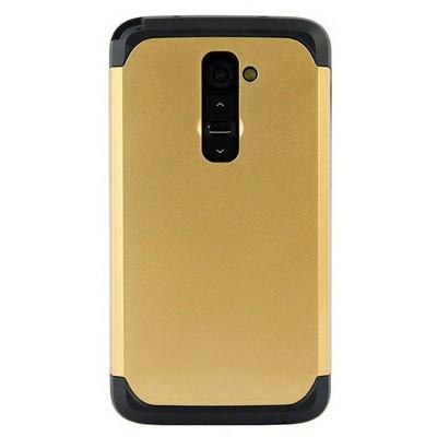 Microsonic Slim Fit Dual Layer Armor Lg G2 Kılıf Sarı Cep Telefonu Kılıfı