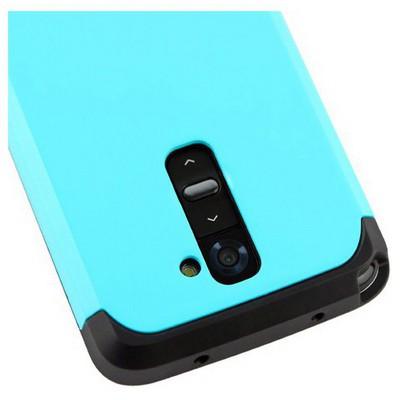 Microsonic Slim Fit Dual Layer Armor Lg G2 Kılıf Mavi Cep Telefonu Kılıfı