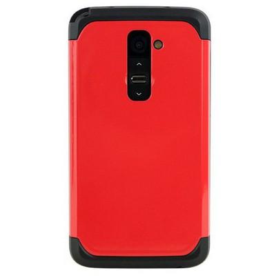 Microsonic Slim Fit Dual Layer Armor Lg G2 Kılıf Kırmızı Cep Telefonu Kılıfı