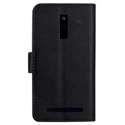 Microsonic Cüzdanlı Deri Avea Intouch 4 Kılıf Siyah Cep Telefonu Kılıfı