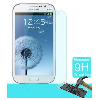 Microsonic Temperli Cam Ekran Koruyucu Samsung Galaxy Grand I9082 Kırılmaz Film Ekran Koruyucu Film