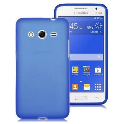 Microsonic Transparent Soft Samsung Galaxy Core 2 Kılıf Mavi Cep Telefonu Kılıfı