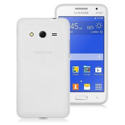 Microsonic Transparent Soft Samsung Galaxy Core 2 Kılıf Beyaz Cep Telefonu Kılıfı