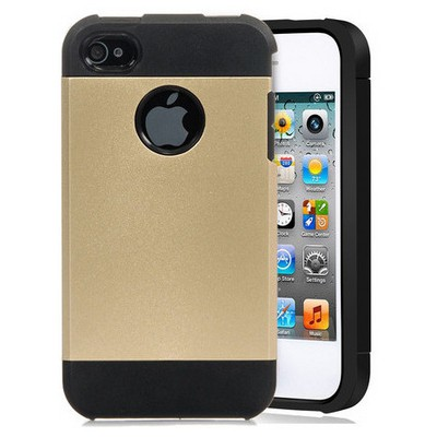 Microsonic Slim Fit Dual Layer Armor Iphone 4 & 4s Kılıf Sarı Cep Telefonu Kılıfı