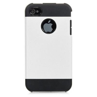 Microsonic Slim Fit Dual Layer Armor Iphone 4 & 4s Kılıf Beyaz Cep Telefonu Kılıfı