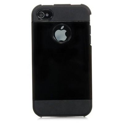Microsonic Slim Fit Dual Layer Armor Iphone 4 & 4s Kılıf Siyah Cep Telefonu Kılıfı