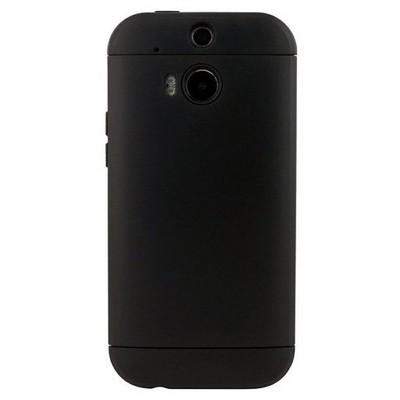 Microsonic Slim Fit Dual Layer Armor Htc One M8 Kılıf Siyah Cep Telefonu Kılıfı