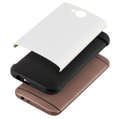 Microsonic Slim Fit Dual Layer Armor Htc One M8 Kılıf Beyaz Cep Telefonu Kılıfı