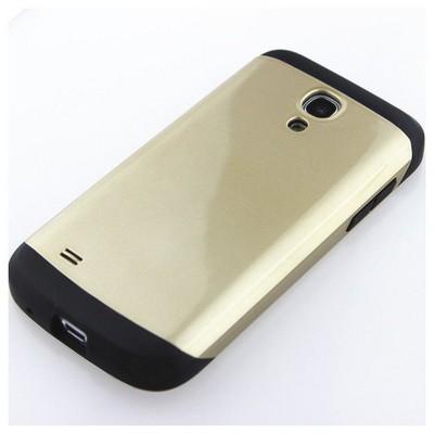 Microsonic Slim Fit Dual Layer Armor Samsung Galaxy S4 Mini Kılıf Sarı Cep Telefonu Kılıfı