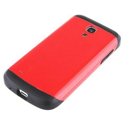 Microsonic Slim Fit Dual Layer Armor Samsung Galaxy S4 Mini Kılıf Kırmızı Cep Telefonu Kılıfı
