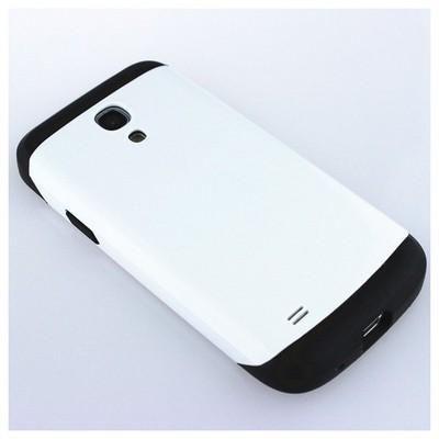 Microsonic Slim Fit Dual Layer Armor Samsung Galaxy S4 Mini Kılıf Beyaz Cep Telefonu Kılıfı
