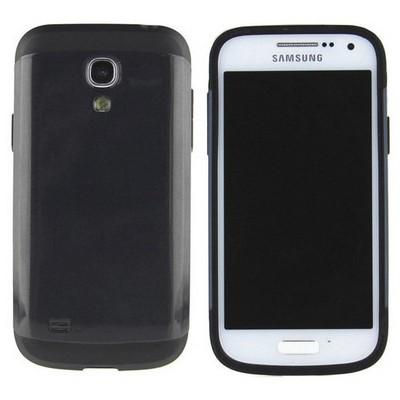 Microsonic Slim Fit Dual Layer Armor Samsung Galaxy S4 Mini Kılıf Siyah Cep Telefonu Kılıfı