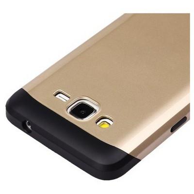 Microsonic Slim Fit Dual Layer Armor Samsung Galaxy Grand Prime Kılıf Sarı Cep Telefonu Kılıfı