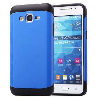 Microsonic Slim Fit Dual Layer Armor Samsung Galaxy Grand Prime Kılıf Mavi Cep Telefonu Kılıfı