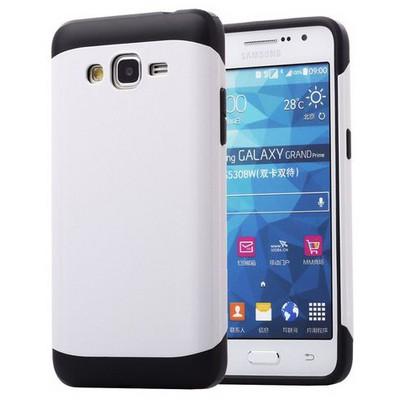 Microsonic Slim Fit Dual Layer Armor Samsung Galaxy Grand Prime Kılıf Beyaz Cep Telefonu Kılıfı