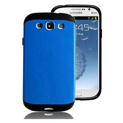 Microsonic Slim Fit Dual Layer Armor Samsung Galaxy Grand I9082 Kılıf Mavi Cep Telefonu Kılıfı