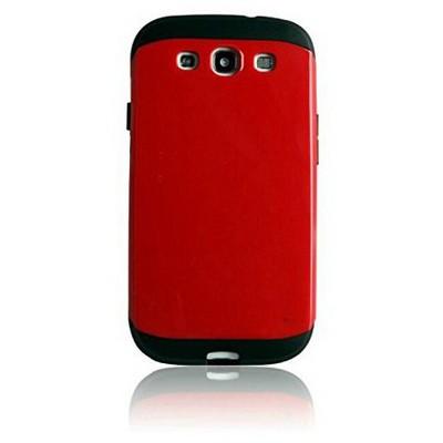 Microsonic Slim Fit Dual Layer Armor Samsung Galaxy Grand I9082 Kılıf Kırmızı Cep Telefonu Kılıfı