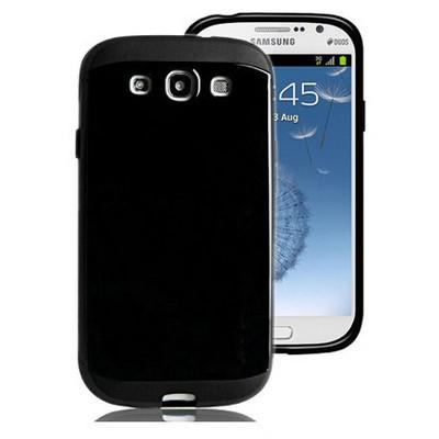 Microsonic Slim Fit Dual Layer Armor Samsung Galaxy Grand I9082 Kılıf Siyah Cep Telefonu Kılıfı