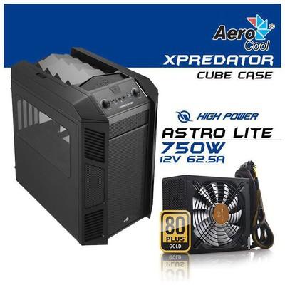 Aerocool X Predator Cube 750w Kasa - AE-XPRCUBE-750