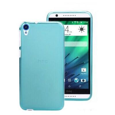Microsonic Transparent Soft Htc Desire 820 Kılıf Mavi Cep Telefonu Kılıfı