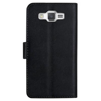 Microsonic Cüzdanlı Deri Samsung Galaxy Grand Prime Kılıf Siyah Cep Telefonu Kılıfı