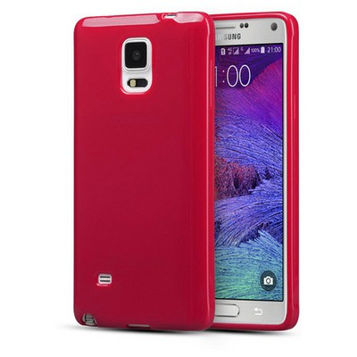 Microsonic parlak Soft Samsung Galaxy Note 4 Kılıf Kırmızı Cep Telefonu Kılıfı